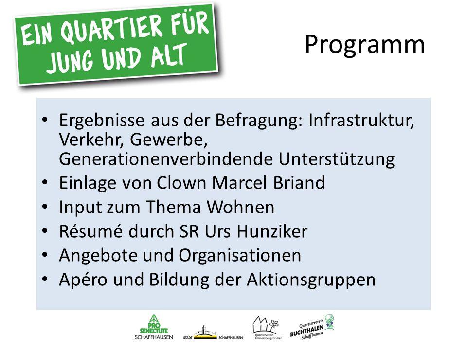 Aktionsgruppen Verkehr Infrastruktur Gewerbe und Dienstleistungen Generationenverbindende, gegenseitige Unterstützung Park der Begegnung