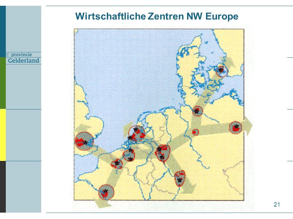Wirtschaftliche Zentren NW Europe 21