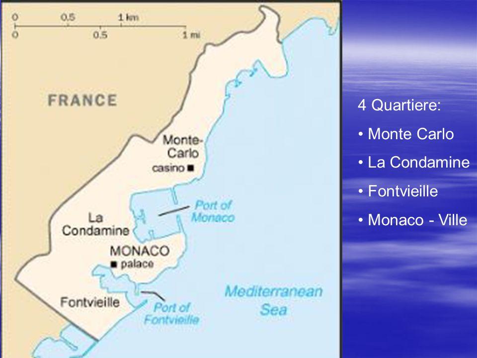 4 Quartiere: Monte Carlo La Condamine Fontvieille Monaco - Ville