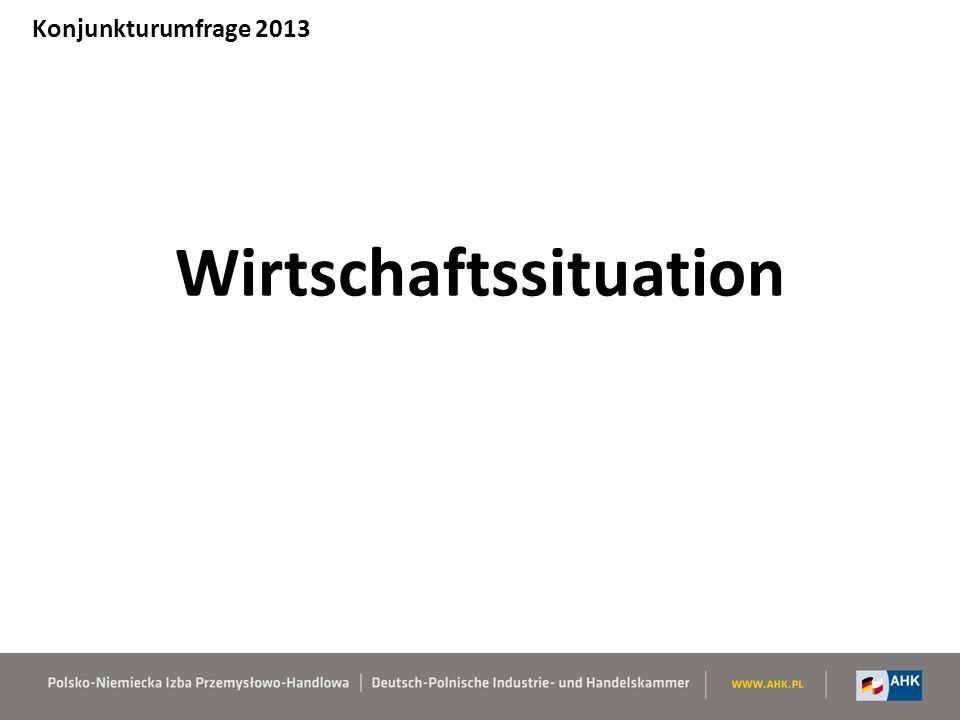 Wirtschaftssituation Konjunkturumfrage 2013