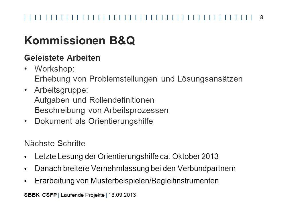 SBBK CSFP | Laufende Projekte | 18.09.2013 9 Gefährliche Arbeiten Ausgangslage 1.