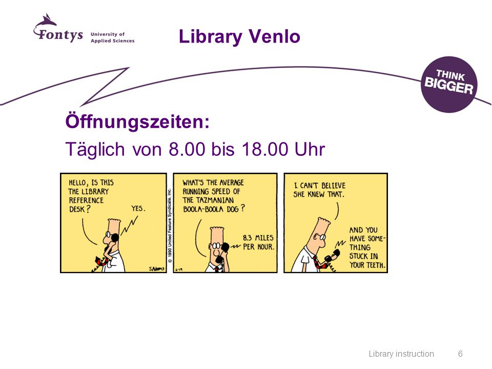 Library instruction7 Library Venlo Video.Wir Sind für Sie da.