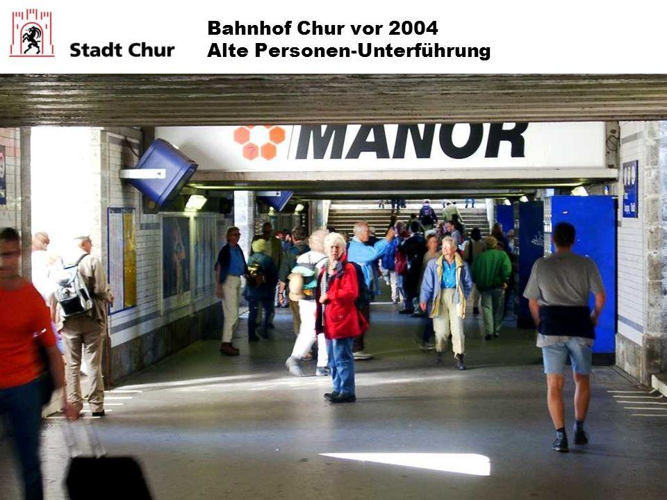 Bahnhof Chur vor 2004 Alte Personen-Unterführung