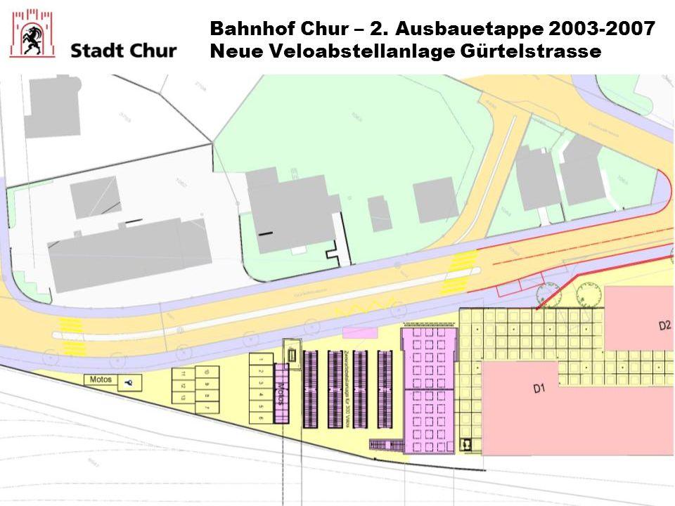 Bahnhof Chur – 2. Ausbauetappe 2003-2007 Neue Veloabstellanlage Gürtelstrasse