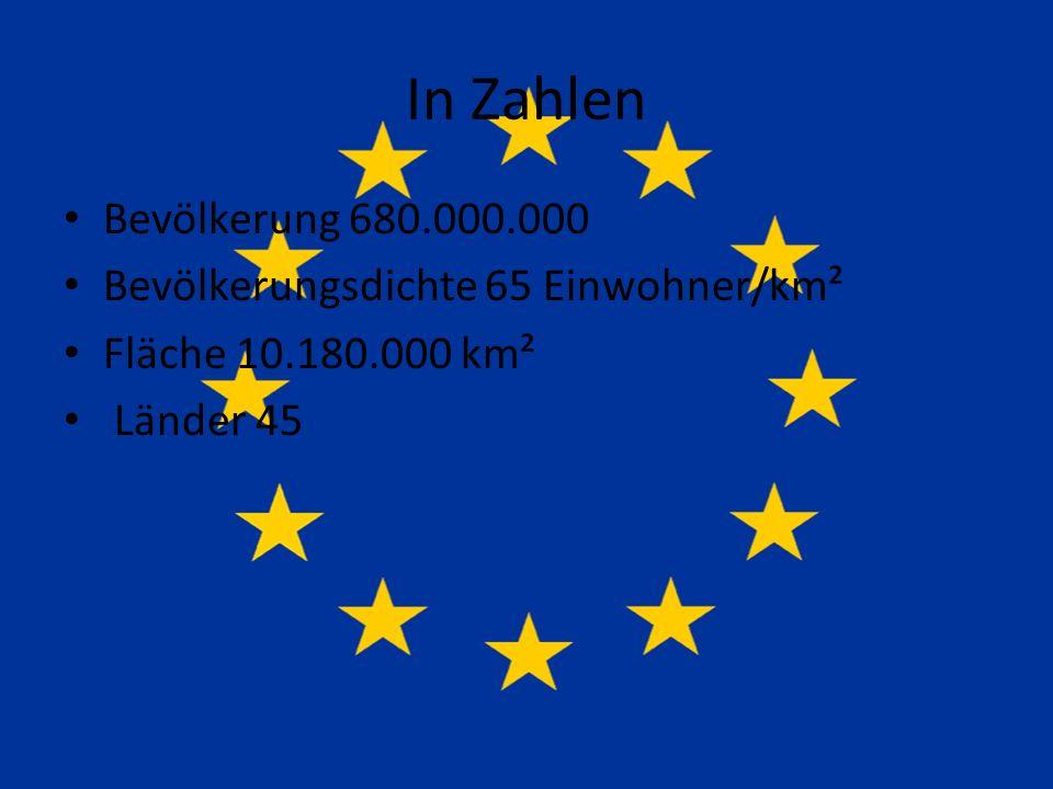 In Zahlen Bevölkerung 680.000.000 Bevölkerungsdichte 65 Einwohner/km² Fläche 10.180.000 km² Länder 45