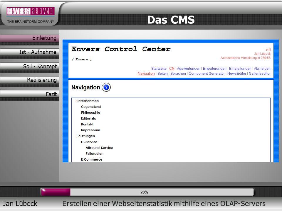 Jan Lübeck Eigenes CMS Flexcove 3 Modularer Aufbau Serverseitiges Sessionsystem Administration über Controlcenter Das CMS