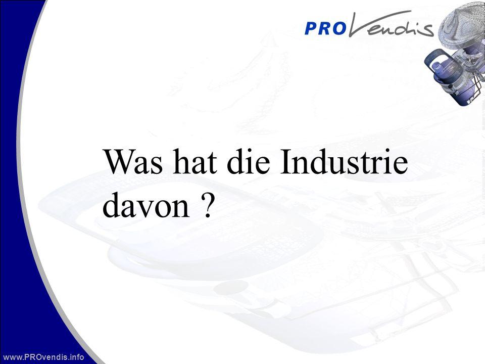 www.PROvendis.info Was hat die Industrie davon