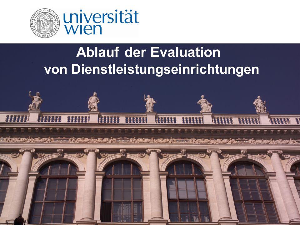 Ablauf der Evaluation von Dienstleistungseinrichtungen
