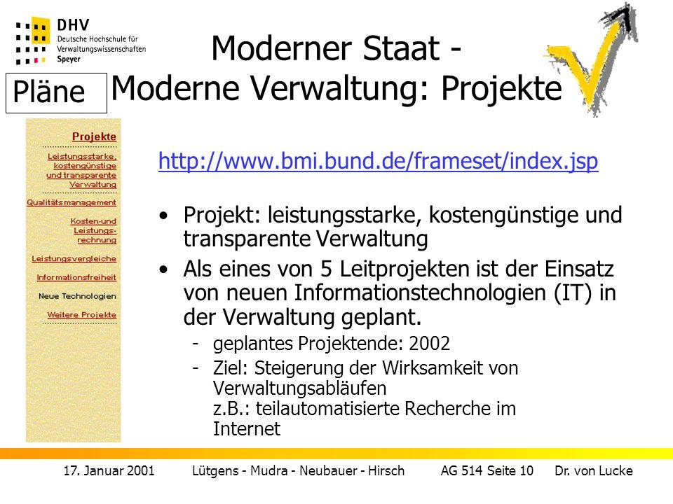 17.Januar 2001 Lütgens - Mudra - Neubauer - Hirsch AG 514 Seite 11 Dr.