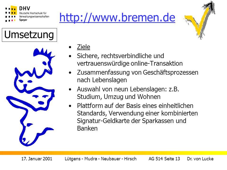 17.Januar 2001 Lütgens - Mudra - Neubauer - Hirsch AG 514 Seite 14 Dr.
