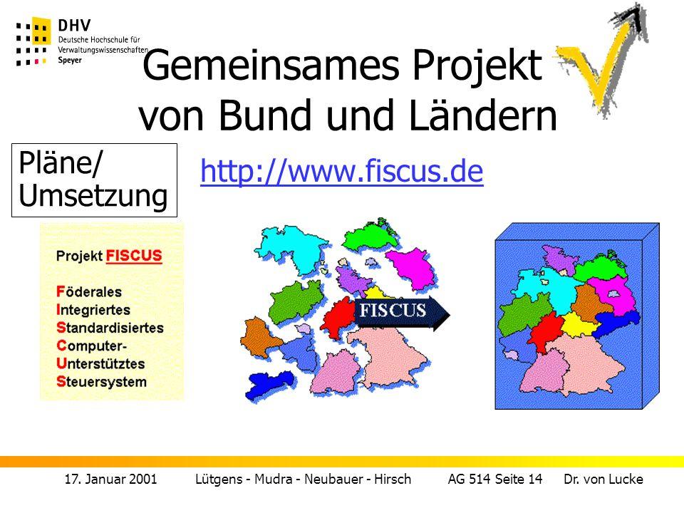 17.Januar 2001 Lütgens - Mudra - Neubauer - Hirsch AG 514 Seite 15 Dr.