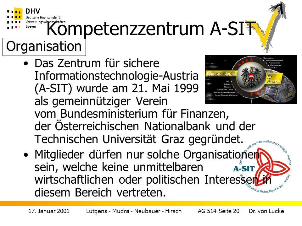 17.Januar 2001 Lütgens - Mudra - Neubauer - Hirsch AG 514 Seite 21 Dr.
