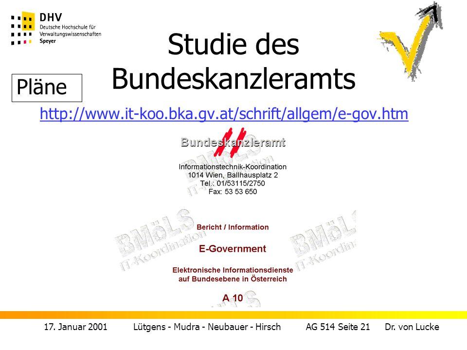17. Januar 2001 Lütgens - Mudra - Neubauer - Hirsch AG 514 Seite 22 Dr. von Lucke Schweiz