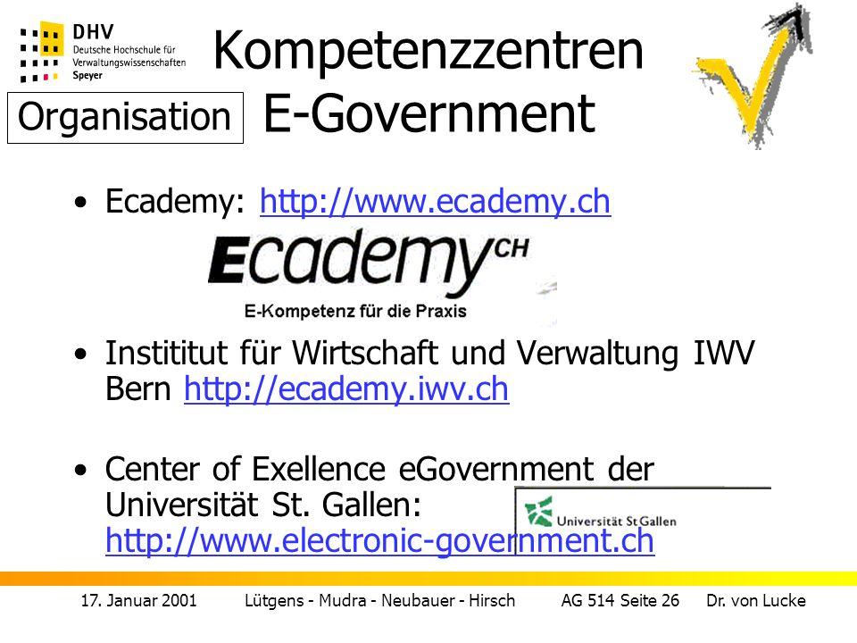 17.Januar 2001 Lütgens - Mudra - Neubauer - Hirsch AG 514 Seite 27 Dr.