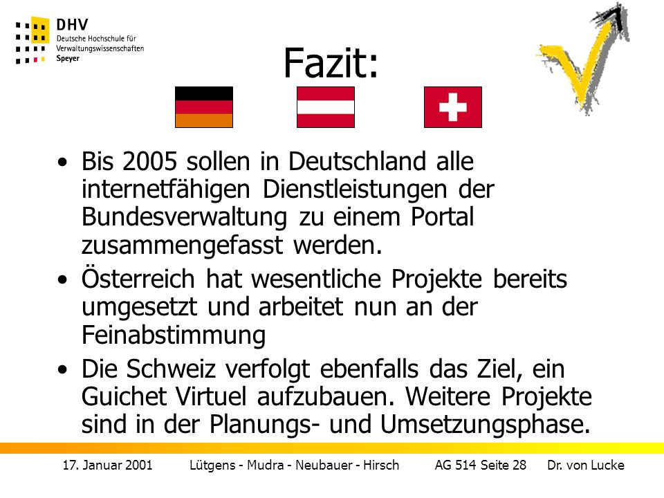 17.Januar 2001 Lütgens - Mudra - Neubauer - Hirsch AG 514 Seite 29 Dr.