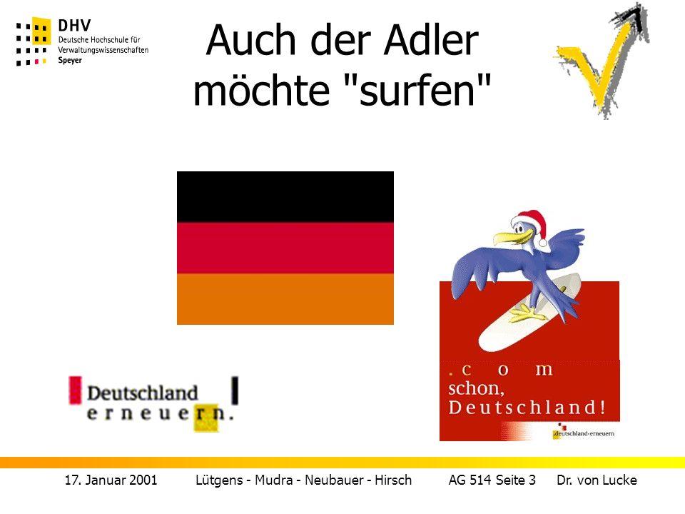 17.Januar 2001 Lütgens - Mudra - Neubauer - Hirsch AG 514 Seite 4 Dr.