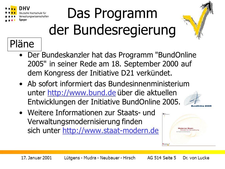 17.Januar 2001 Lütgens - Mudra - Neubauer - Hirsch AG 514 Seite 6 Dr.