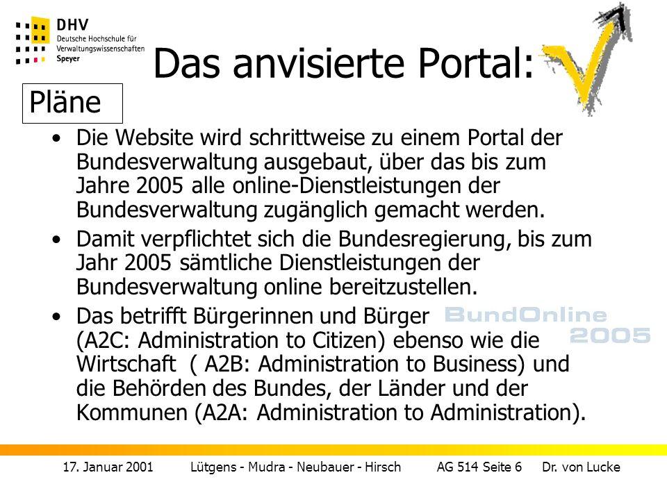 17.Januar 2001 Lütgens - Mudra - Neubauer - Hirsch AG 514 Seite 7 Dr.
