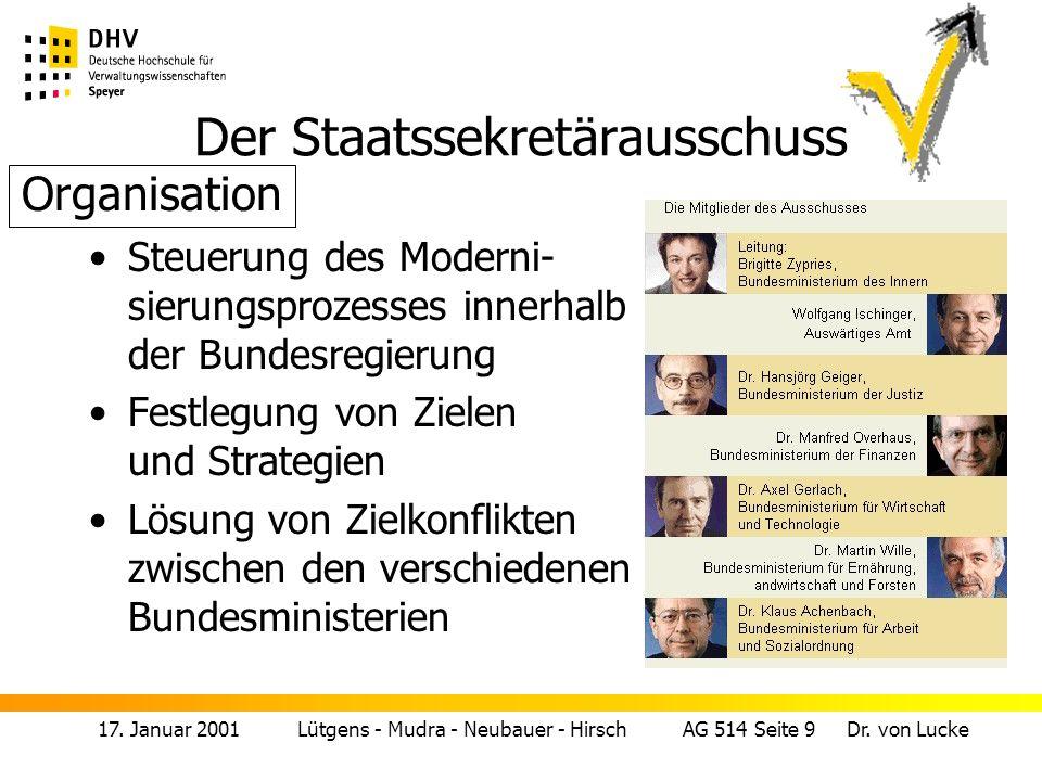 17.Januar 2001 Lütgens - Mudra - Neubauer - Hirsch AG 514 Seite 10 Dr.