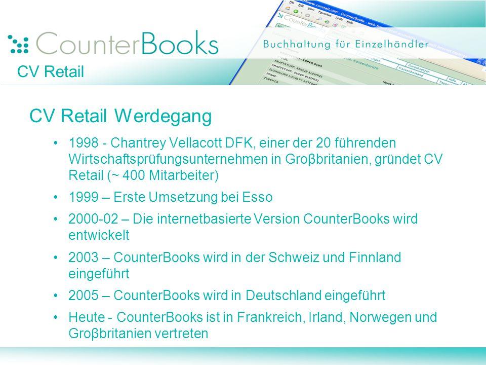 CV Retail CV Retail Werdegang 1998 - Chantrey Vellacott DFK, einer der 20 führenden Wirtschaftsprüfungsunternehmen in Groβbritanien, gründet CV Retail