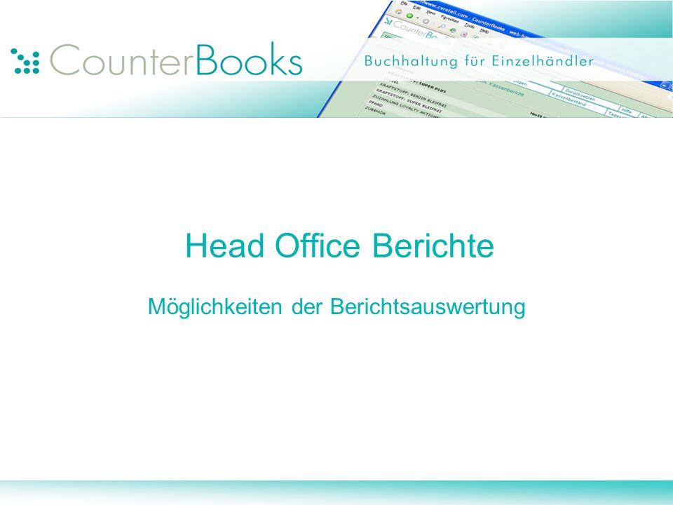 Head Office Berichte Möglichkeiten der Berichtsauswertung