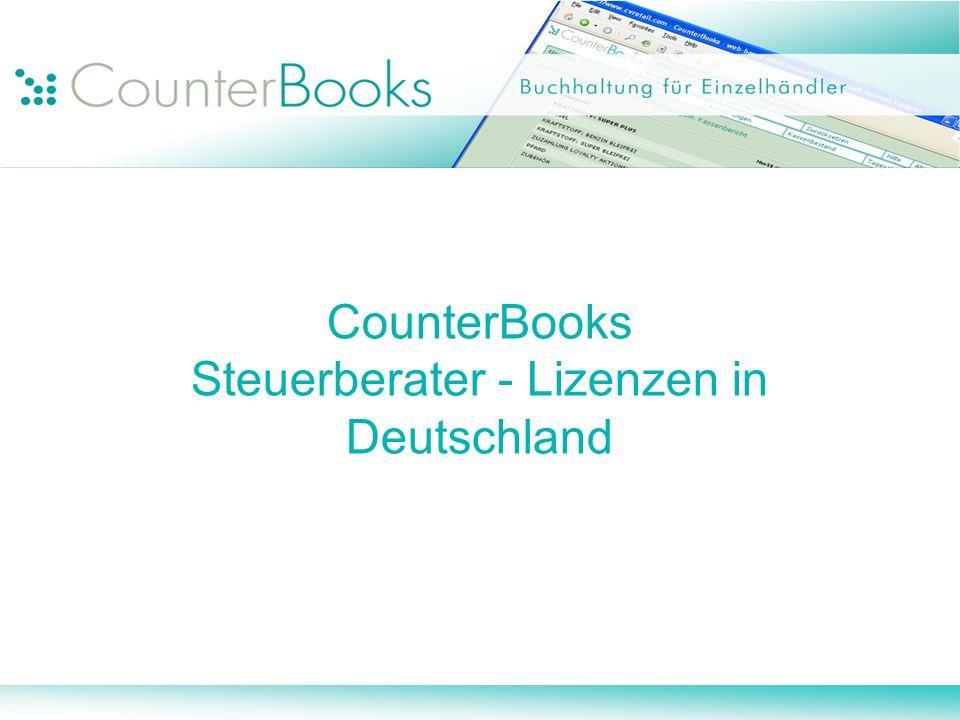 CounterBooks Steuerberater - Lizenzen in Deutschland