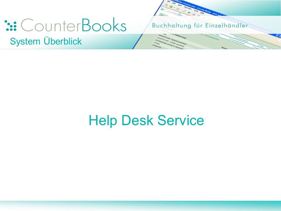 System Überblick Help Desk Service