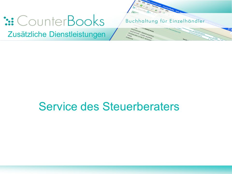 Zusätzliche Dienstleistungen Service des Steuerberaters
