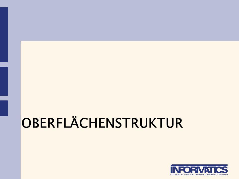 OBERFLÄCHENSTRUKTUR