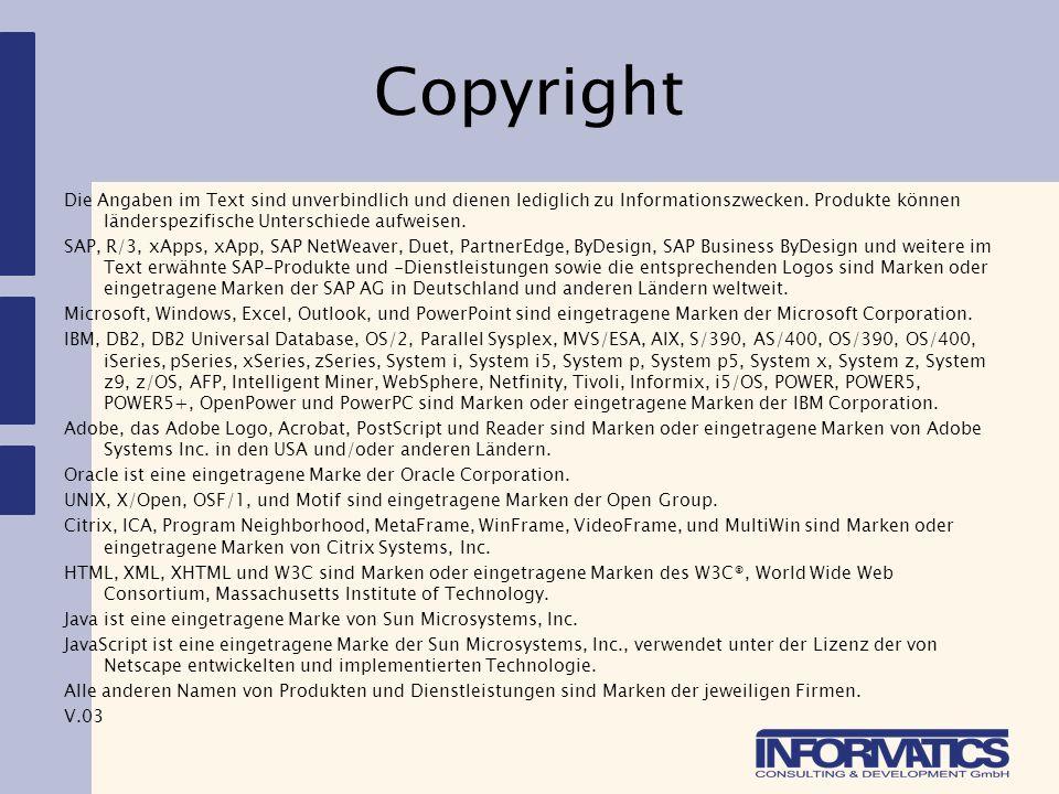Copyright Die Angaben im Text sind unverbindlich und dienen lediglich zu Informationszwecken.