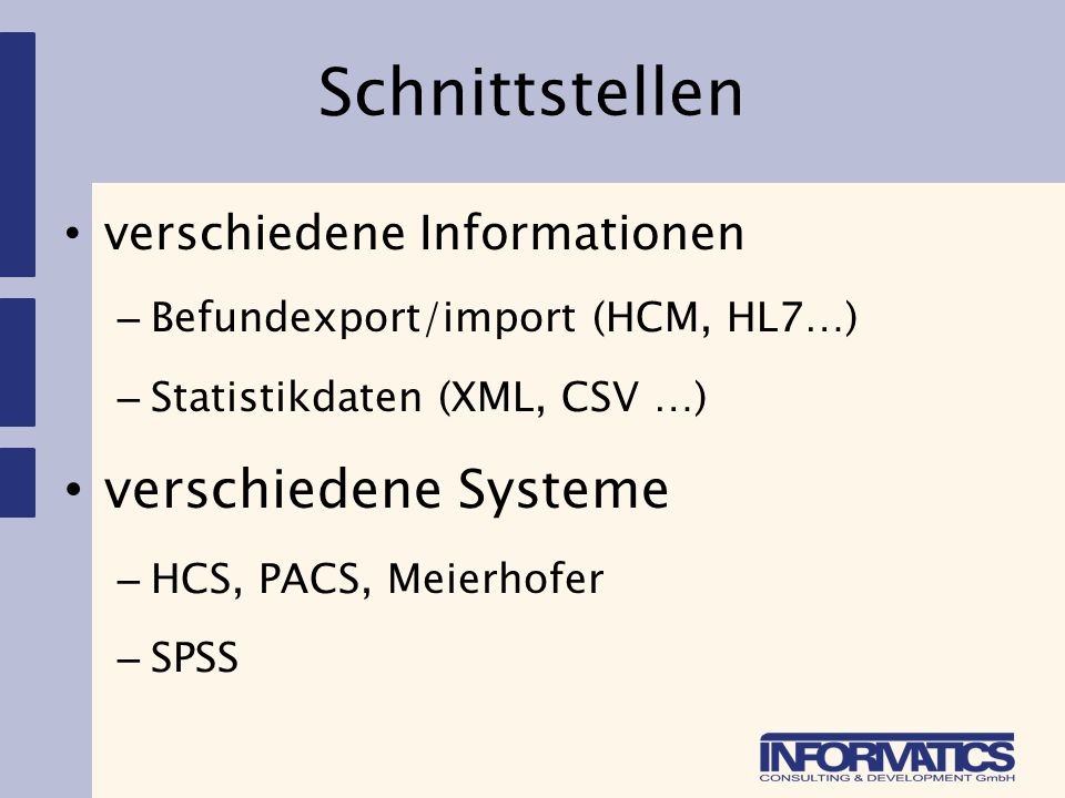 Reporting Auswertungen – u.a.