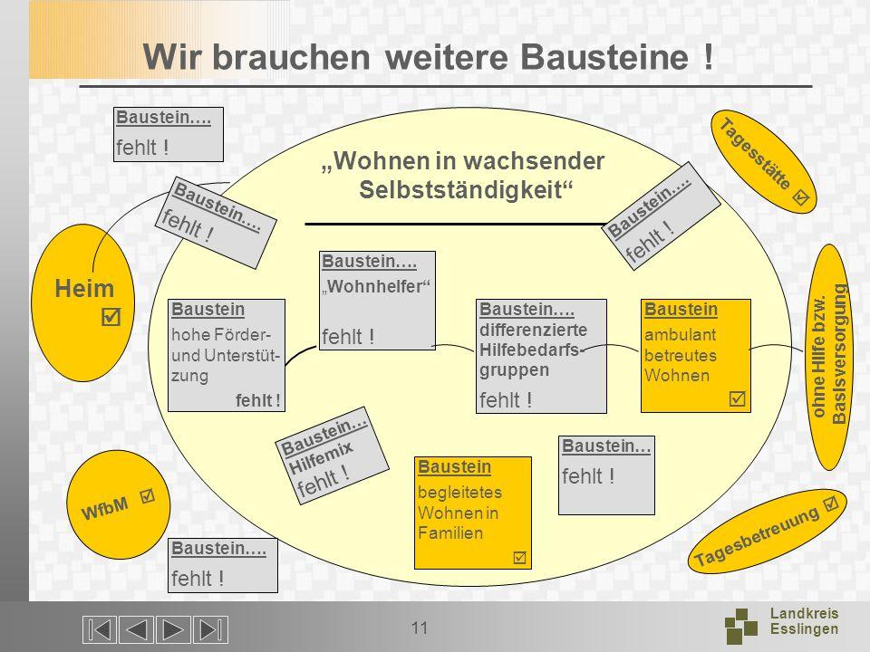 Landkreis Esslingen 11 Wir brauchen weitere Bausteine .