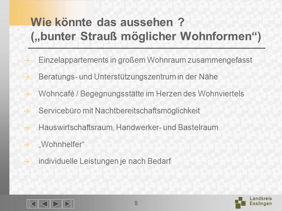 Landkreis Esslingen 9 Wie könnte das aussehen .