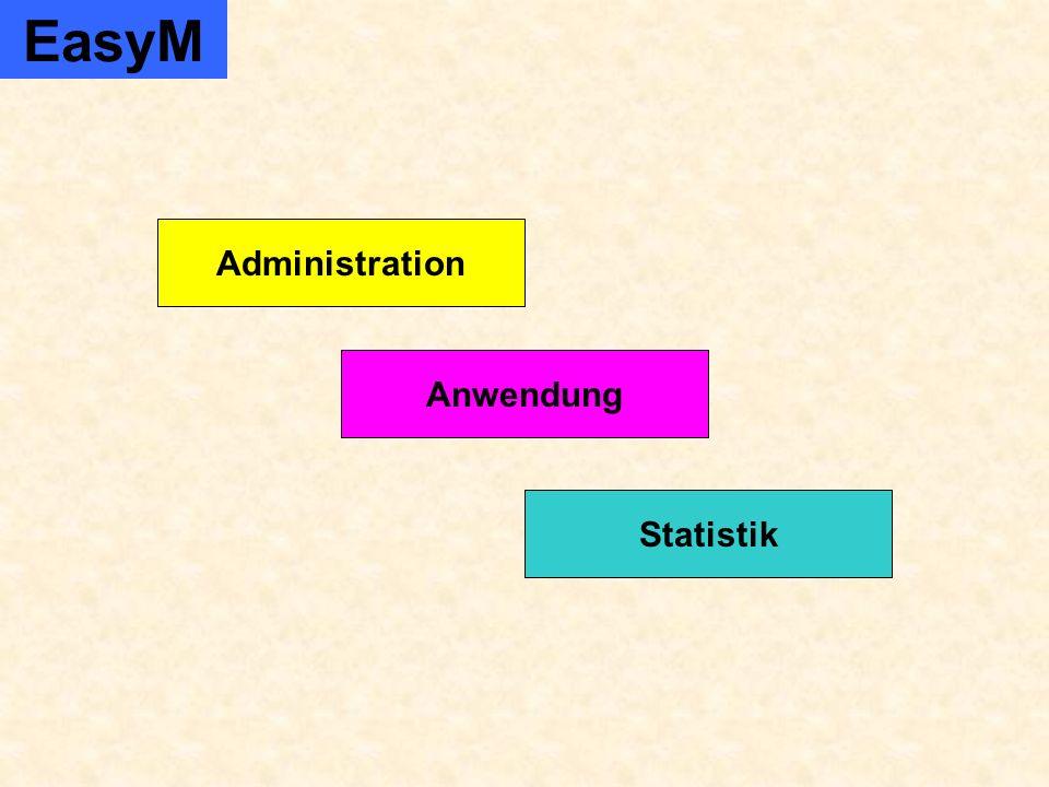 Firma und Anwenderverwaltung Produktverwaltung Kundenverwaltung ADMINISTRATION Verwaltung von Merkmalen EasyM Administration