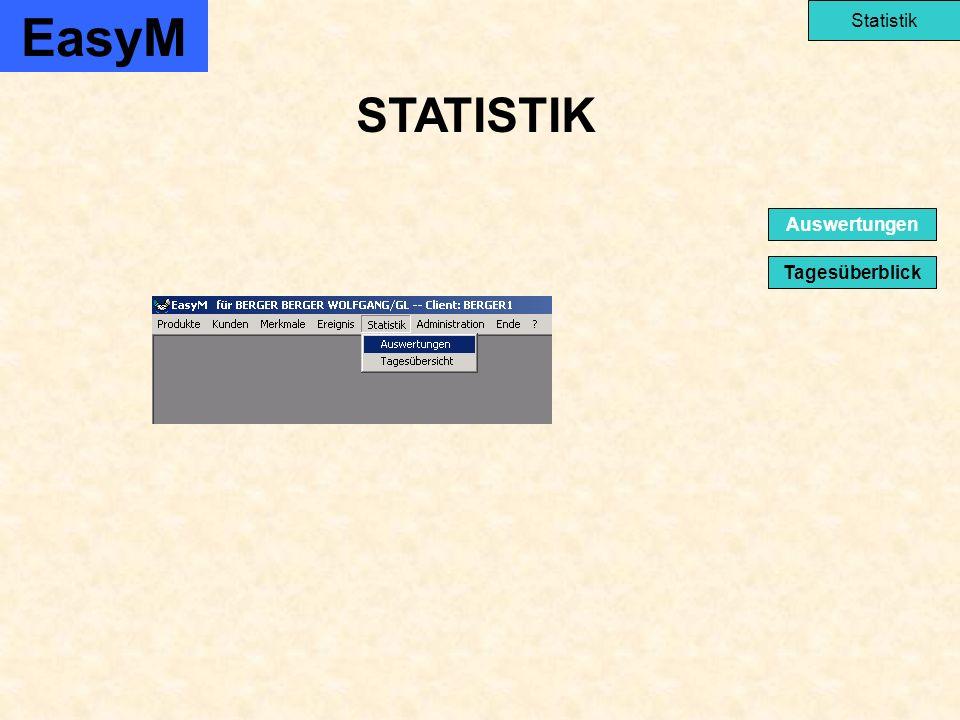 STATISTIK EasyM Statistik Tagesüberblick Auswertungen
