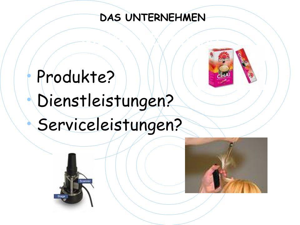 Meine Abteilung Produkte? Dienstleistungen? Serviceleistungen? DAS UNTERNEHMEN
