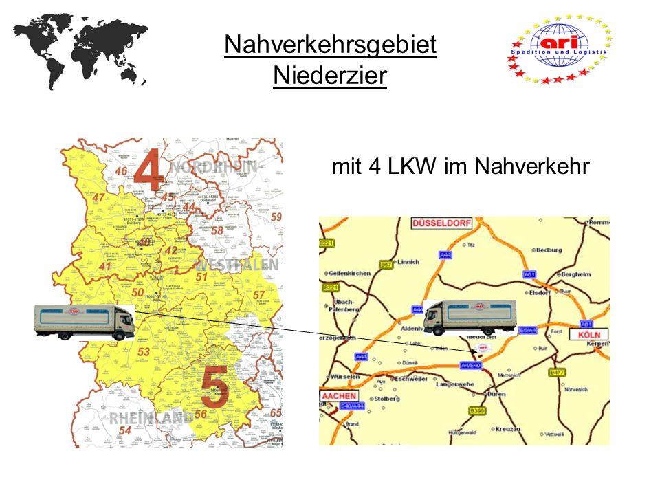 Nahverkehrsgebiet Niederzier mit 4 LKW im Nahverkehr