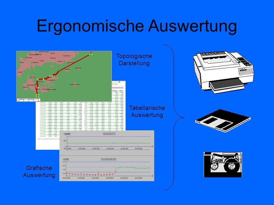 Ergonomische Auswertung Topologische Darstellung Tabellarische Auswertung Grafische Auswertung