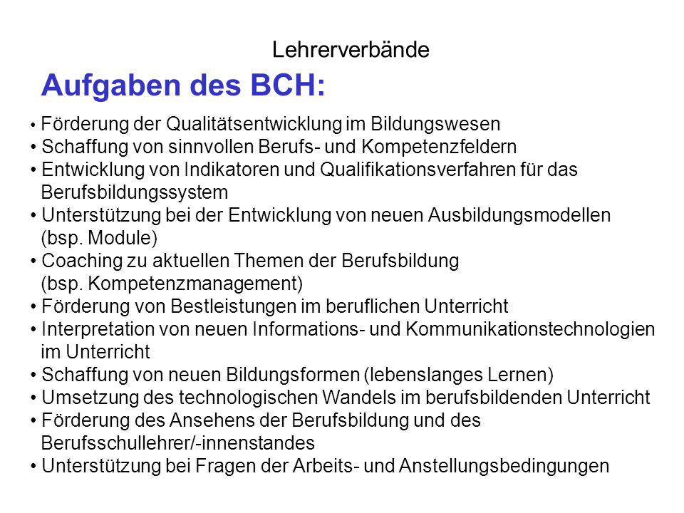 Lehrerverbände Zweck und Ziele der Fraktionen: z.B.
