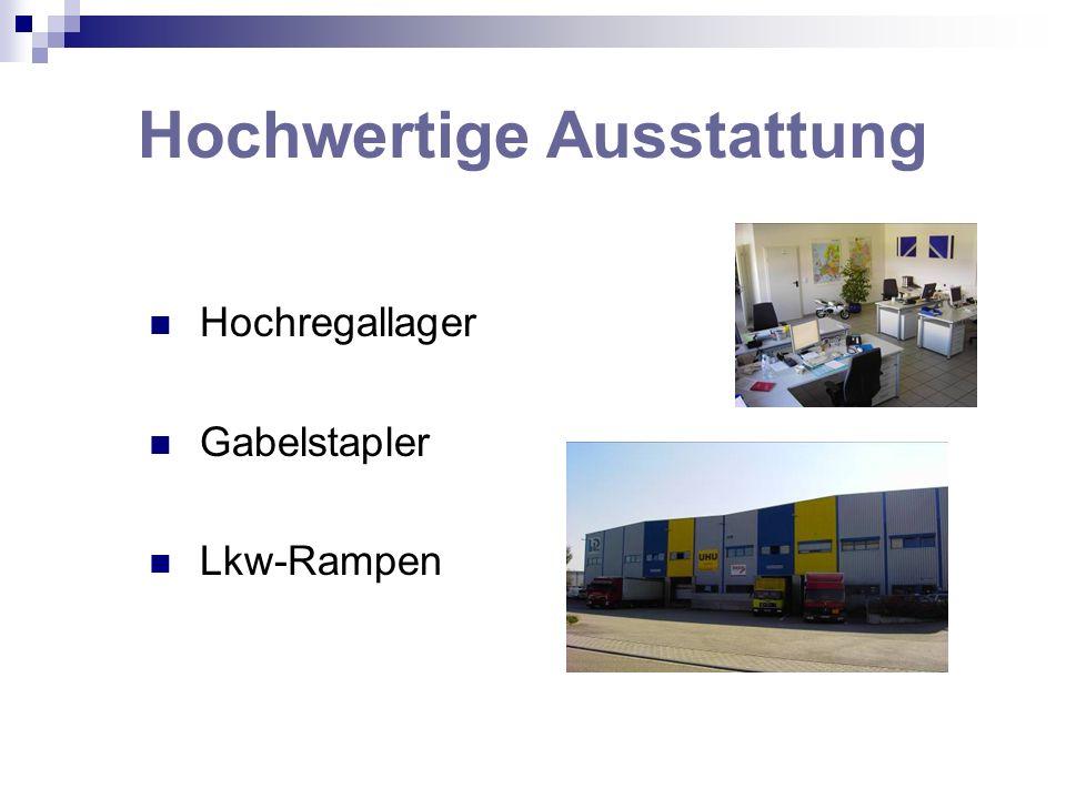 Hochwertige Ausstattung Hochregallager Gabelstapler Lkw-Rampen