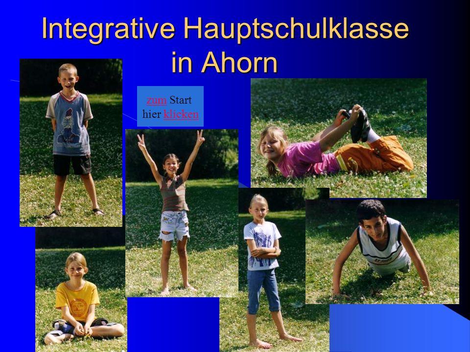 Integrative Hauptschulklasse in Ahorn zum Start hier klicken