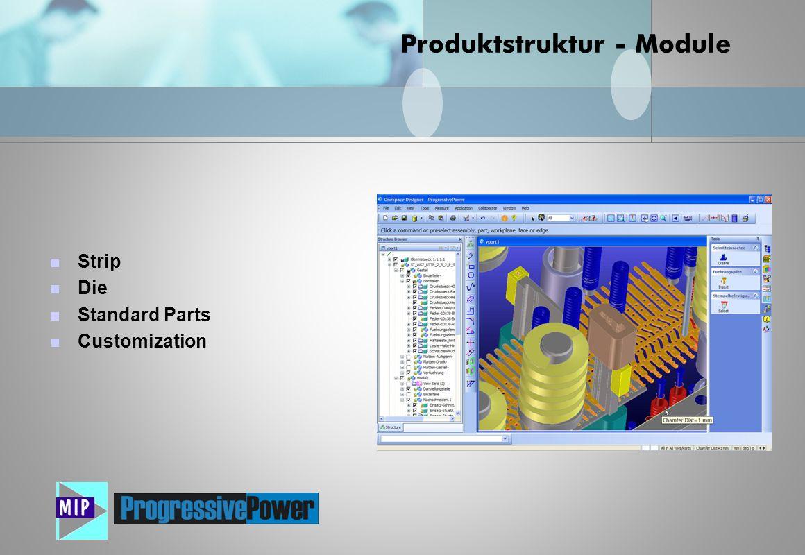 Strip Die Standard Parts Customization Produktstruktur - Module