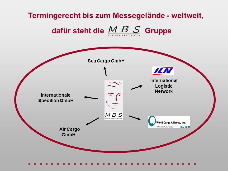 Termingerecht bis zum Messegelände - weltweit, Sea Cargo GmbH Air Cargo GmbH Internationale Spedition GmbH International Logistic Network dafür steht