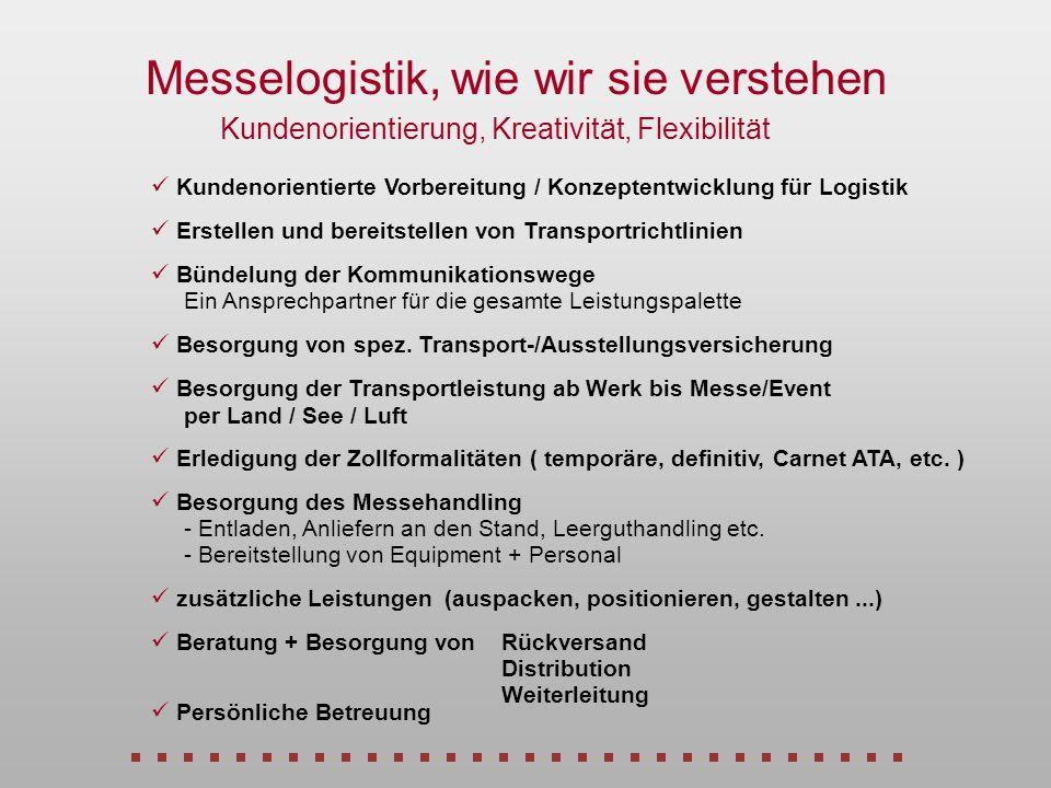 Kommunikation Messe-Logistik Wie es nicht sein soll Veranstalter Absender Aussteller Importapt.Exportabtl.