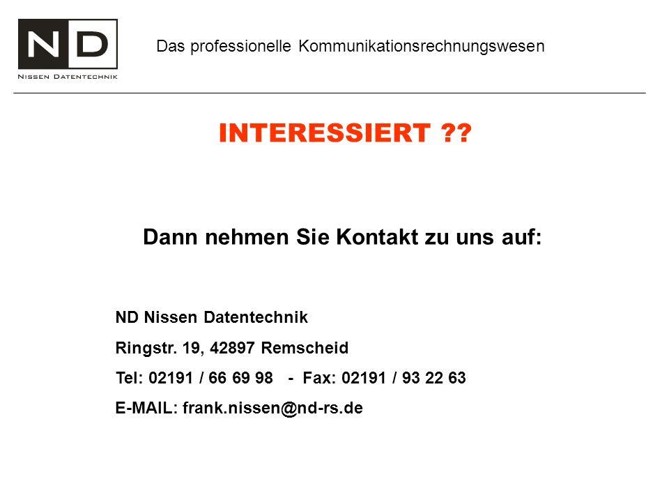Das professionelle Kommunikationsrechnungswesen INTERESSIERT ?.