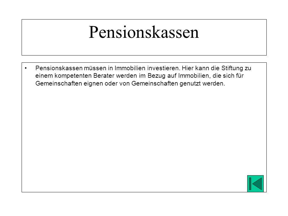 Pensionskassen müssen in Immobilien investieren.