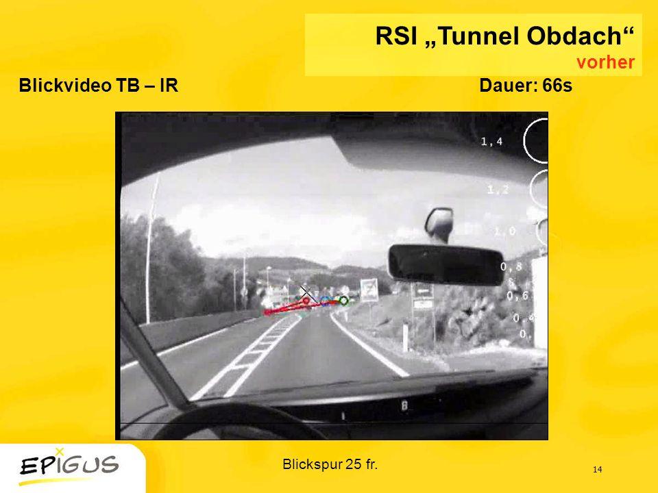 14 Blickvideo TB – IRDauer: 66s Blickspur 25 fr. RSI Tunnel Obdach vorher