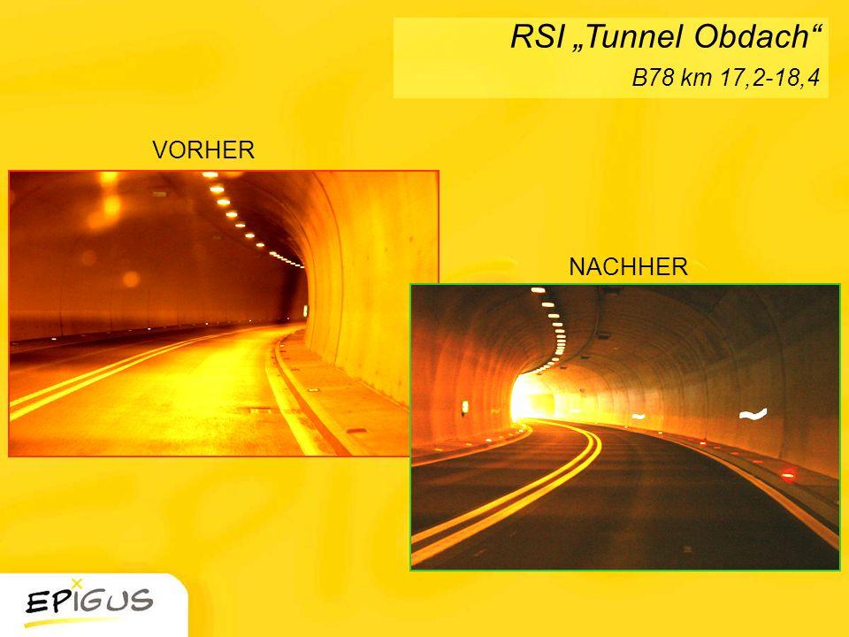 VORHER NACHHER RSI Tunnel Obdach B78 km 17,2-18,4