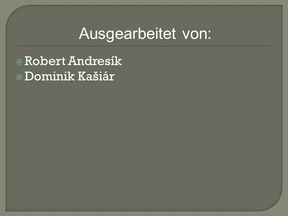 Robert Andresík Dominik Kašiár Ausgearbeitet von: