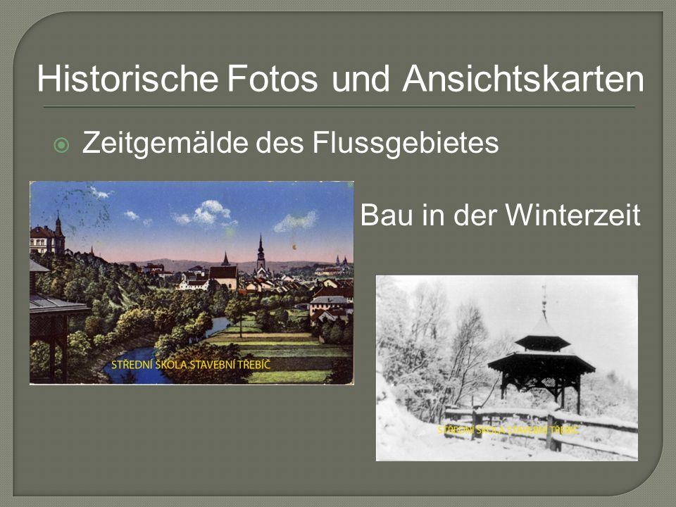 Zeitgemälde des Flussgebietes Bau in der Winterzeit Historische Fotos und Ansichtskarten